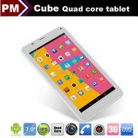 "Under $200 7 inch Dual Core New Cube U51GTC4 Talk 7X MTK8382 Quad core tablet phone call 7"" IPS dual cameras dual sim card 3G Android 4.2 1GB 8GB GPS Bluetooth 002405"