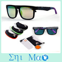 Wholesale 2014 New arrival OPTIC KEN BLOCK HELM Sports Sunglasses With Original Packs Outdoor Sun glass COLORFUL LENS men Specs hard case