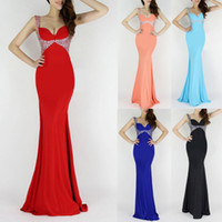 V-Neck grace karin - Grace Karin New Arrival Occident Backless V Neck Long Ball Gown Sexy Evening Dresses Prom Party Dresses Colors US CL6096