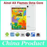 Wholesale Phablet quot Ainol AX Fire Flame tabelt pc G G WIFI Octa core MTK6592 IPS Retina Bluetooth G phone call tablet Drop shipping DHL