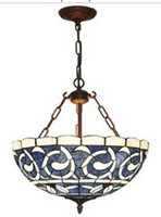 Wholesale Stained Glass Lamp Ceiling Pendant Fixture Light Chandelier with quot Shade