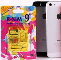 Wholesale R SIM Pro Unlock Card R SIM9 RSIM9 Pro Perfect SIM Cardfor iphone G S C S G GSM WCDMA iOS x
