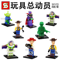plastic building blocks toys - 480pcs sy172 toy Story block Figures Building Blocks Sets Model Minifigures Toys Compatible