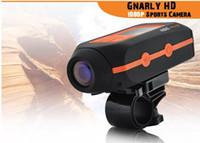 Wholesale Photos HD Camera Full HD P outdoor travel Waterproof Helmet Video Recorder Motor Extreme Bicycle Bike DVR Screen Camcorder