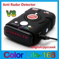 Wholesale 2014 Best Price Car Radar Detector Russian English Voice LED Display