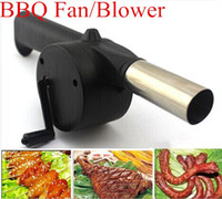 Wholesale Fan Air Blower For Barbecue Fire Bellows w Hand Crank Brand New hight quality