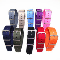 Wholesale Hot sale New arrived colors available High quality MM Nylon Watch band NATO straps waterproof watch strap