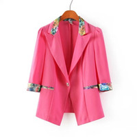 Women Formal V-Neck 2014 Autumn New Style Candy-colored Small Woman Jacket Sleeve Mixed colors
