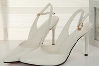 Cheap Women pointy toe Best Stiletto Heel PU women summer shoes