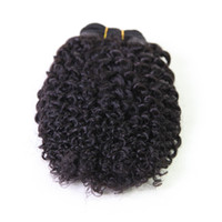 """Malaysian Hair Kinky Curly  New 4A Malaysian Kinky Curly Hair Weaves 100% Virgin Remy Human Hair Weave 8""""-32"""" Natural Black 1B# Hair Extensions one piece DHL shipping"""