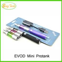 Cheap eGo-eVod Mini Protank Starter Kit Blister Card With USB Rechargable Mini Atomizer evod Battery 1100mAh Mini Protank vaporizer vape RDA kits