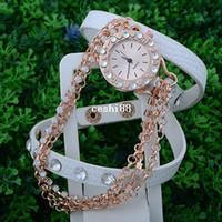 Wholesale HOT SALE Hawaiian Style Fashion Women Dress Summer Watches Gift Long Leather Metal Sling Chain Quartz Watch