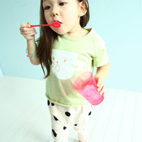 Girl t cups - 3 Colors Girls Baby Summer Cotton Cartoon Cup T shirt Children Cup Printed Short Sleeve T shirt