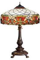 Tiffany lamps stained glass - Handcrafted Style Stained Glass Grape Light Table Lamp quot W X quot H