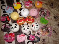 Lanyard kawaii - 10cm Kawaii Jumbo Squishies Bag Charm Big Bread Panda Hello Kitty Big Donut Rare Squishy Bun Phone Charm