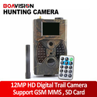 Wholesale 940NM Black IR LED outdoor p mp MP MP wildlife tracking camera support GSM SIM card MMS SMTP gprs trail hunting camera