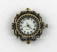 Wholesale 6PCS Antiqued Bronze Ornate ROUND Watch Face mm