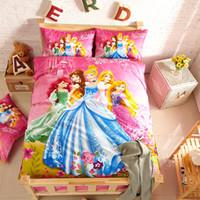 Wholesale Bedding set girl comforter set home textile kids bedclothes duvet cover set cartoon children bedding sheet