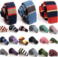 Wholesale 2Pcs Fashion Men s Colourful Tie Knit Knitted Tie Necktie Narrow Slim Skinny Woven