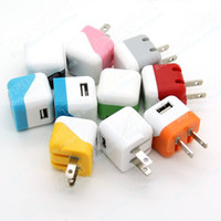 Dock Chargers Universal For US Candy Dice Shape US Plug Mini USB Travel Charger AC Wall Power Adapter For iPhone 4 4S 5 5S 5C iPod Samsung Galaxy S3 S4 Note 2 3N900