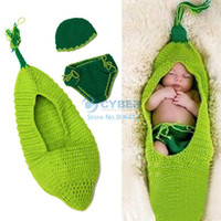 Unisex Spring / Autumn Baby 0-6months Newborn Baby Costume Photography Prop Cute Crochet Knit Beanie Hat Caps Set 18827