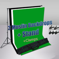 Wholesale Photography Photo Studio Cotton Muslin Backdrop Background Support Stand Clamps