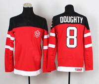 Ice Hockey Men Full 1914-2014 Canadians 100th Anniversary Olympic Hockey Jerseys Red #8 Drew Doughty Jersey IIHF Patch Men's Sport Jerseys Winter Ice Sportswear