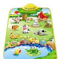 Wholesale Music Sound Farm Animal Kids Baby Children Play Mat Carpet Playmat Gym Toy A489