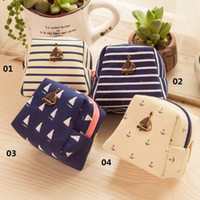 Wholesale New Arrival Sailing Style Trapezoid Coin Purse Hot Small Pouch