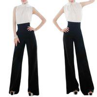 Wholesale S5Q Wide Leg Long Pants Trousers Ladies Women Casual Black Slim High Waist Flare Pants AAADPM