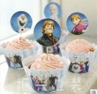 2014 Bakeware Paper Cup Europe Frozen Elsa Anna 12Pcs Set Ca...