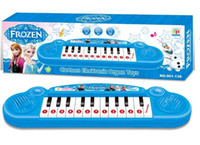Wholesale FROZEN frozen Musical Instruments Elsa Anna Children s electronic organ cartoon keyboard demonstration songs with music DHL FREE