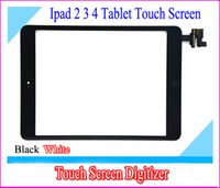 Wholesale 10pcs Brand New High Quality LCD Touch Screen Digitizer Assembly for ipad ipad ipad Black and White via DHL