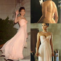 Reference Images maid in manhattan dress - 2015 Sexy Maid in Manhattan Celebrity Dresses A Line Sweetheart Chiffon Floor Length Cheap Bridesmaid Prom Evening Dresses Gowns for Party