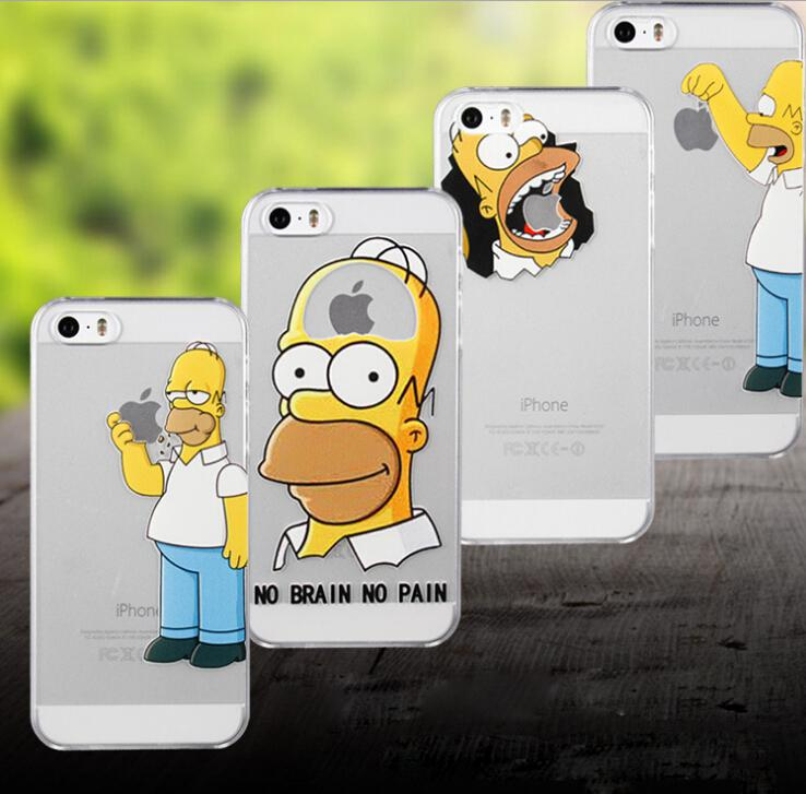 Simpsons Iphone 6 Case Eating Apple The Simpson Eat Apple Case