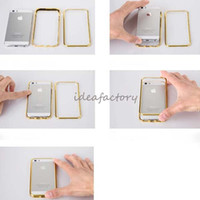 Wholesale DHL Fast Shipping Bling Crystal Metal Bumpers Luxury Rhinestone Cases Cover for iPhone s s