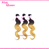Brazilian Hair Body Wave Under $50 Ombre Hair Brazillian Body Wave Remy Hair Ombre Human Hair Brazilian Hair Weave Ombre Two Tone Dip Dye Mix Colour T1B 27 3 Bundles 6A Grade
