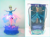 Wholesale Induction Flying Fairy Frozen Toys Flying Frozen Elsa with Light and Music Brinquedos Kids Dolls Best Gift for Girls