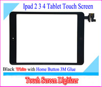 Wholesale For iPad ipad ipad ipad2 ipad3 ipad4 Touch Screen Panel Glass Replacement With Digitizer With Home Button White Black High Quality