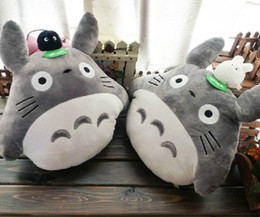 Wholesale 16 quot Totoro Plush Toys Cushion Stuffed Plush Pillow Cartoon soft plush toy doll cm