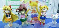 Wholesale Anime Cartoon Cute Sailor Moon Sailor Jupiter Sailor Venus Q Version Action Figure Toys Dolls set