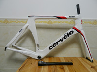 Road Bikes Carbon Fibre UD - T800 2012 Full Carbon Fiber Cervelo Bike Frame VWD cervelo s5 carbon Road Bike Frame White color Carbon Bicycle frame+fork+headset+seatpost+Clamp