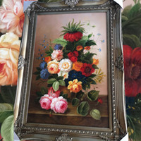 Wholesale Continental classical paintings flower paintings painting the living room hand painted oil painting