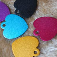 Wholesale 100PCS Heart Shape Blank Dog ID Tag Pet Identity Card Anti lost Personalized Dog ID Tags Size and Colors DHL Drop Shipping