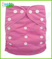 Wholesale 1pcs Sample Order Baby Pure Color Cloth Diapers With Microfiber Inserts Kids Diaper Pocket Nappies All in one size By JCtrade