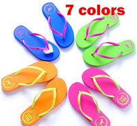Wholesale Special SALES Candy colors Womens Beach Summer Slippers Flip Flops Couple slippers Multi Color pink dog slippers