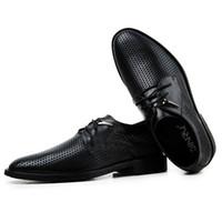 Oxfords men dress shoes - High grade Handmade Genuine leather Men dress shoe summer oxford shoes for men men leather shoes