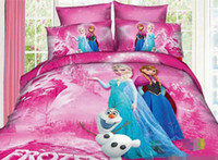 Wholesale Frozen Elsa Anna set CM CM CM Children D Floral Wedding Quilt Cover Bed Sheet Princess Kids Cartoon Bedding Supplies E0412