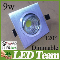aluminum beam wholesalers - Aquare Dimmable Led Spotlight Ceiling light w Cob Fixture Led Downlight Warm Cold white V Beam Angle