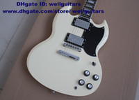 Solid Body 6 Strings Solid Hardwood SG G-400 Shiny White Rosewood Fingerboard White Trapezoid Inlay 22 Frets Silver Hardware Jade Tuners Electric Guitar No.0004-394 Free Sh